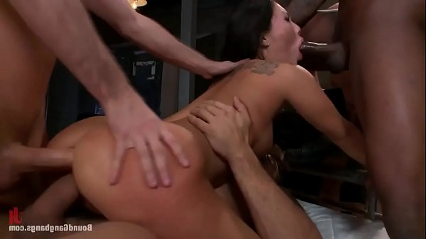Asa Akira Is Brutally Fucked In A Gangbang