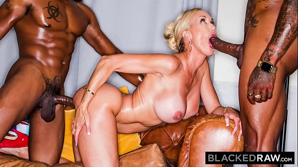 BLACKEDRAW This BBC hungry milf was craving a spit roast