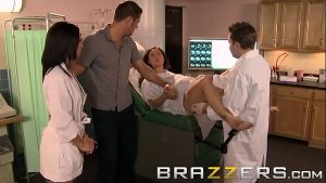 Doctors Adventure – (Ann Marie Rios) – Banging the Nurse while his wife gives birth – Brazzers