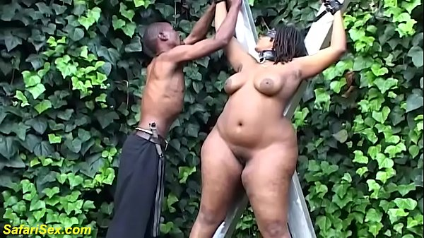 extreme bbw african outdoor bdsm lesson