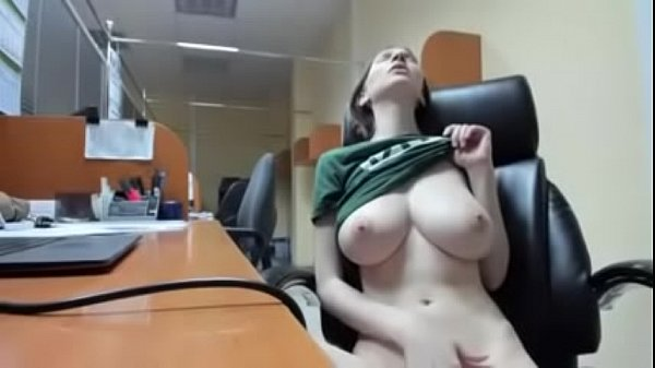 Pretty white girl at desk
