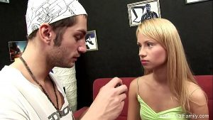 Blonde Sister Takes Anal From Bro