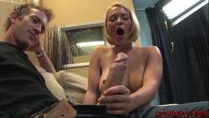 Krissy Lynn Attempting to take the HUGE Cock of Whitezilla